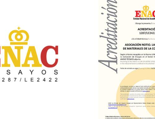 Mantenimiento de la acreditación ENAC del Laboratorio de Materiales de Construcción de NOTIO