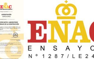 El laboratorio de materiales de construcción de NOTIO está acreditado por ENAC