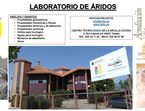 NOTIO REALIZA LOS ENSAYOS DE ÁRIDOS Y AGUA PARA LA FABRICACIÓN DE HORMIGONES Y MORTEROS DEL C.A. EL CABRIL