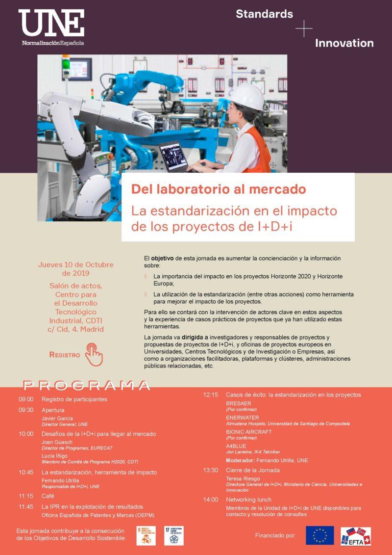 UNE: Jornada estándares y proyectos de I+D+i