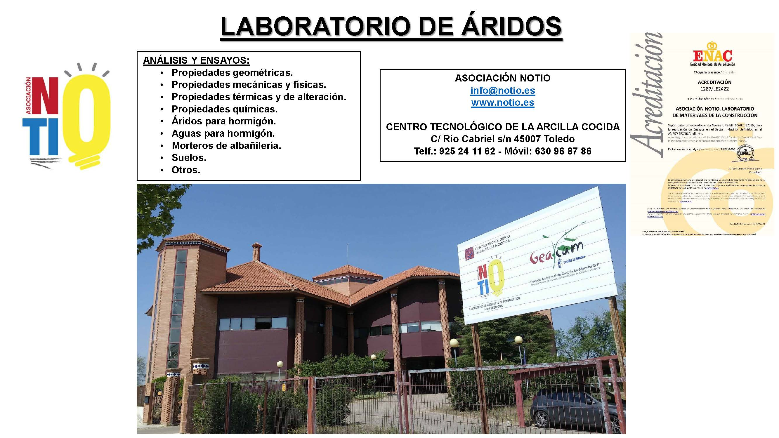 NOTIO: ENSAYOS DE ÁRIDOS